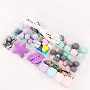 Silicone Teether Beads Bricolage Artisanat Set Poussette Clips Berceau Toy Safe et Natural Silicone Bead Teether Collier Pendentif Baby Teether Jouets de la marque Mamimami home image 0 produit